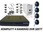 Komplett AHD szett 4 kamerával (COMPLTTEAHD1)