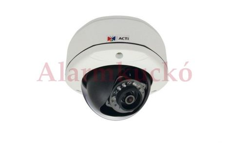 Acti D72 IP Dome kamera, kültéri, 3MP(2048x1536), 3,6mm, H264, D&N(ICR), IR15m, IP66, DNR, SD, PoE, vandálbiztos