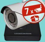 Sec-CAM 2MP AHD - VARIFOKÁLIS KÜLTÉRI KOMPAKT KAMERA - 7 KAMERÁS KOMPLETT KAMERARENDSZER - valódi 2 MegaPixel (FULL HD 1080p) biztonsági megfigyelő szett