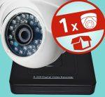 Sec-CAM 1MP AHD - KÜLTÉRI / BELTÉRI DÓM KAMERA - 1 KAMERÁS KOMPLETT KAMERARENDSZER - valódi 1 MegaPixel (HD 720p) biztonsági megfigyelő szett