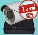 Sec-CAM 1MP AHD - VARIFOKÁLIS KÜLTÉRI KOMPAKT KAMERA - 1 KAMERÁS KOMPLETT KAMERARENDSZER - valódi 1 MegaPixel (HD 720p) biztonsági megfigyelő szett