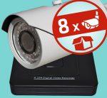 Sec-CAM 1MP AHD - VARIFOKÁLIS KÜLTÉRI KOMPAKT KAMERA - 8 KAMERÁS KOMPLETT KAMERARENDSZER - valódi 1 MegaPixel (HD 720p) biztonsági megfigyelő szett