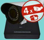 Sec-CAM 2MP 12V DC IP - VARIFOKÁLIS KÜLTÉRI KOMPAKT KAMERA - 4 KAMERÁS KOMPLETT KAMERARENDSZER - valódi 2 MegaPixel (FULL HD 1080p) biztonsági megfigyelő szett