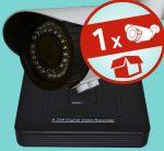 Sec-CAM 2MP 12V DC IP - VARIFOKÁLIS KÜLTÉRI KOMPAKT KAMERA - 1 KAMERÁS KOMPLETT KAMERARENDSZER - valódi 2 MegaPixel (FULL HD 1080p) biztonsági megfigyelő szett