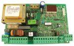 FAAC F790917 455 D Vezérlés, 2 motorhoz, egy mozdulattal csatlakoztatható a rádió vevő, LCD kijelző és nyomógombok segítségével programozható