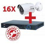 Dahua PACK-V16-HFW1000S 16 db HFW1000S kamera, NVR4216 rögzítővel